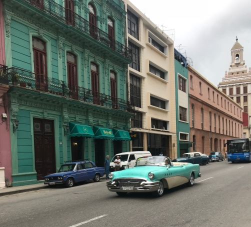 Havana and mythical American Car